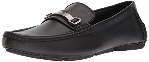 Calvin Klein Men's Maddix Driving Style Loafer, Black, 12 M US