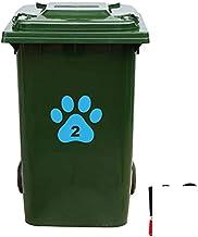 Kliko Sticker/Vuilnisbak Sticker - Hondenpoot - Nummer 2-18x16,5 - Licht Blauw