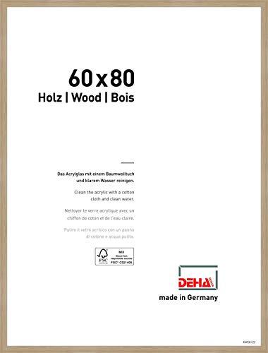 DEHA Holz Bilderrahmen Fontana, 60x80 cm, Eiche