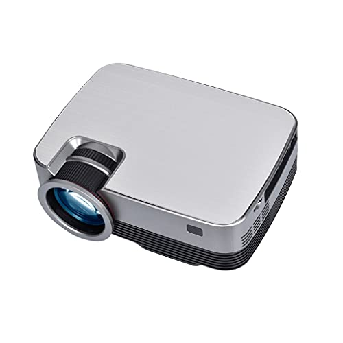 SMDMM Proyector de Video Q6 para películas Home Cinema Full HD 1080P Compatible con Movie Beamer WiFi 10 TV Box Opcional (Size : Q6 Add TV Box)