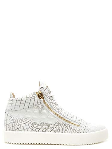Giuseppe Zanotti Luxury Fashion Design Herren RU70009064 Weiss Leder Hi Top Sneakers | Jahreszeit Permanent