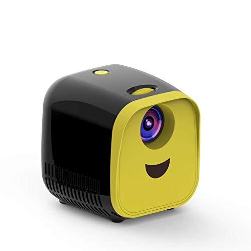 Luoshan Lin L1 Niños Proyector Mini Mini LED Altavoz portátil del hogar del proyector de la UE (Negro) (Color : Black)