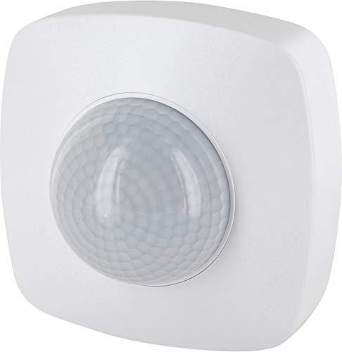 Detector de movimiento por infrarrojos, 360°, IP65, 230 V, con sensor crepuscular, para exteriores y entornos húmedos, alcance de 20 m, apto para LED a partir de 1 W-2000 W