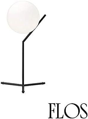 Flos IC T1 High Table Lamp E14 60W Blown Glass Black F3170030