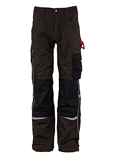 Stenso Prisma - Pantalones Cargo de Trabajo para Hombre - Resistentes y con numerosos Bolsillos - Marrón EU56