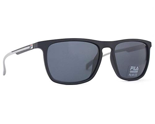 Fila gafas de sol SF9331 U28Z gafas de sol de los Hombres de color Negro de la lente de humo de tamaño de 58 mm