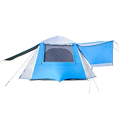 NatEtoile Tents for Camping 4 Person Waterproof, 4 Person Tall Instant Tents for Camping, Cabin Tent with Porch 4-5 People Easy Pop Up Family Camping Tent, Aluminum Poles, Double Layers, Windproof
