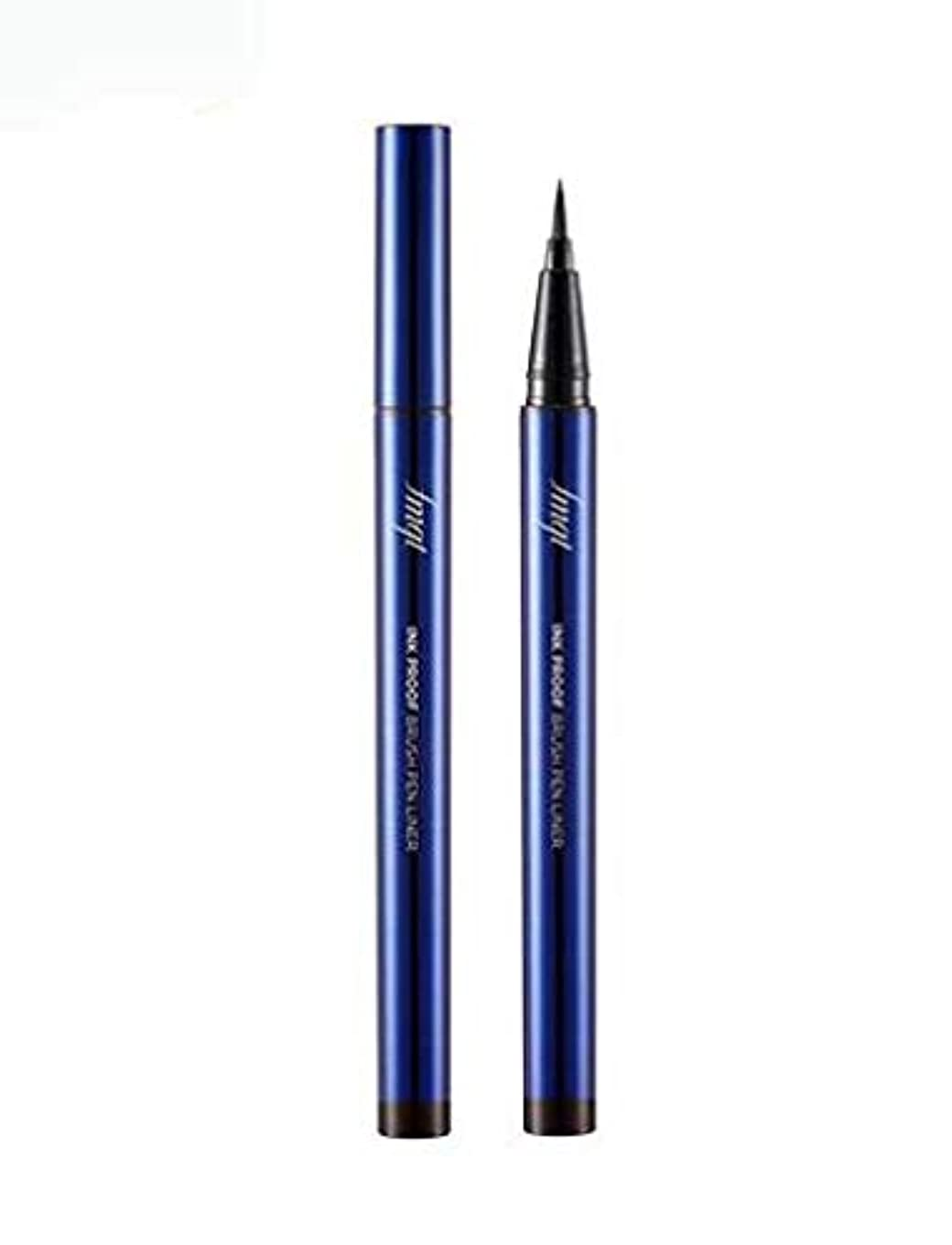 エラーアーティスト湿原[ザ?フェイスショップ] THE FACE SHOP [インク プルーフ ブラシ ペン ライナー 0.5g] Ink Proof Brush Pen Liner 0.5g [海外直送品] (#01. Black)