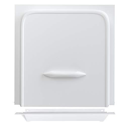 Leisure Coachworks 12 RV Screen Door Slider Panel and Handle/Stop for RV, Trailer, Camper, Motor Home, Cargo Trailer - OEM Replacement (White)