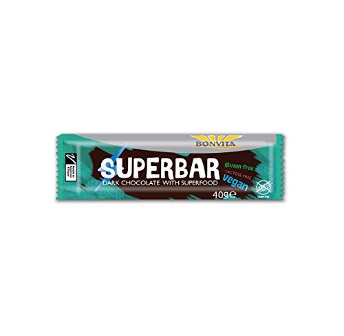 SUPERBAR with Dark Chocolate Lactose-Free Gluten-Free BIO 40 g - BONVITA