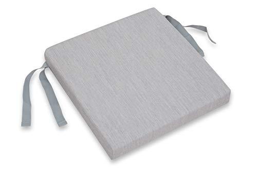 CHILLVERT KAN220 - Cojin Para Silla Pacific Cuadrado 42 x 42 x 6 cm Gris Claro Desenfundable