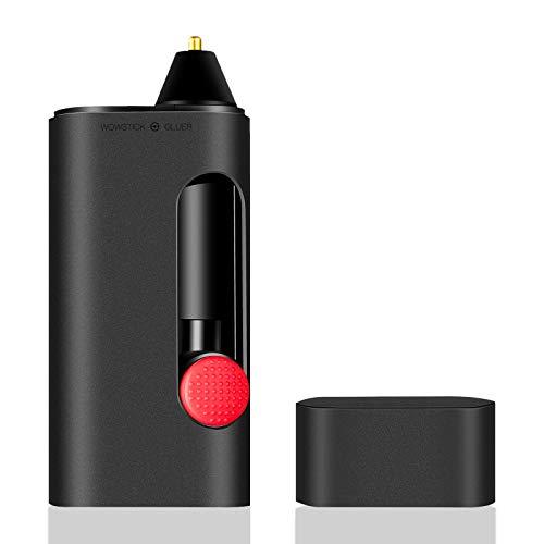 wowstick Heißklebestift, Lithium Mini Schmelzklebstift Kit mit 120 teiligen Mini Klebestiften, Anti Tropf Schmelz Heißschmelz Klebestift für schnelle Reparatur zu Hause, Basteln und Basteln