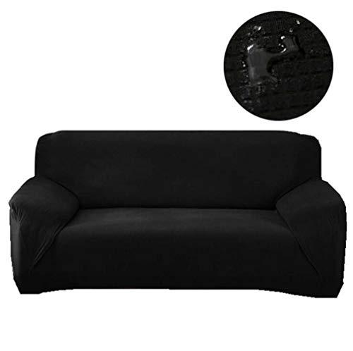 High Stretch Sofa Cover Waterafstotende meubelbeschermer Suede bankhoezen, hoes bankbeschermer zacht, voor fauteuilhoes, 1/2/3/4 zits (bruin),235/300cm