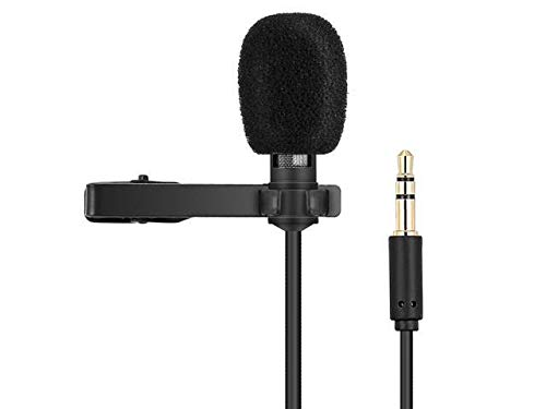 Techonto® Lapel Coller Microphone Voice Recording Filter Mic for Recording Singing Youtube on Smartphones (Black)