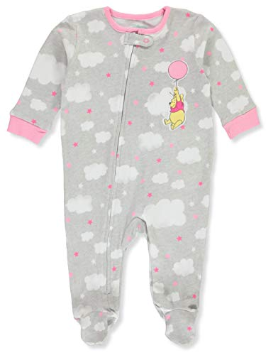 Disney Baby-Mädchen Footed Sleep & Play Kleinkind, Schlafsack, Winnie The Pooh, 0-3 Monate