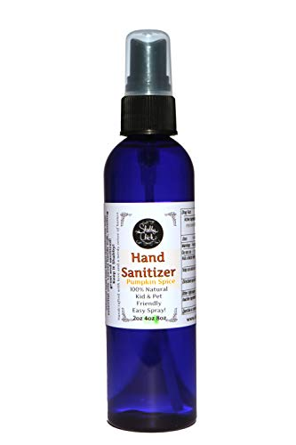 Natural Hand Sanitizer Spray - Shabby Chick Natural Products - 100% Natural Alcohol Based Sanitizer (Pumpkin Spice, 4 ounce)