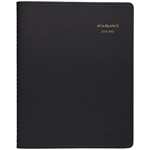 Academic Planner 2020-2021, AT-A-GLANCE Weekly Appointment Book, 7' x 8-3/4', Medium, Black (7095805)