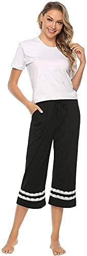 QIN.J.FANG-MY Pijamas nuevos de Primavera y Verano, Pantalones de Pijama para Mujer, Pantalones, Pijama Largo para Dormir, Pantalones para Dormir, Ropa de Dormir