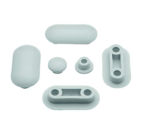 Ideal Standard T217801 Set Gommini per copriwater originale Serie Fiorile,Tesi,Active,21,Linda,Gemma 2, bianco