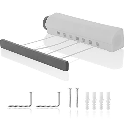 com-four® Secadora de Pared Extensible - Tendedero extraíble - Secadora de Pared - Secadora de Pared Extensible (01 Pieza - Blanco)