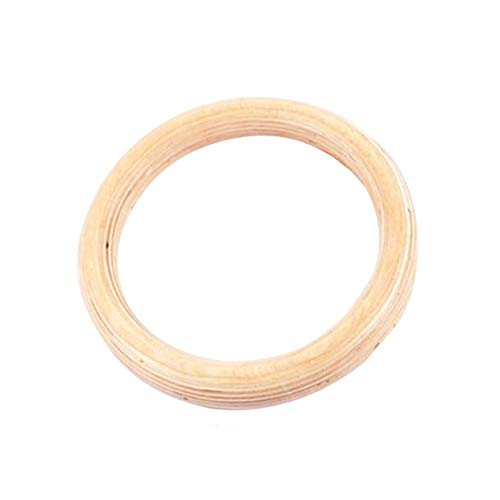 2PCS Birch Fitness Rings,Gymnastics Training Ring 28 MM 32 MM Rings,Wooden Gym Rings for Strength Training (Lifting Rope is Not Included)