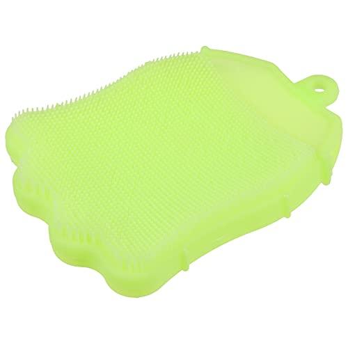 HEALLILY Cepillo de Limpieza para La Cabeza Del Bebé Esponjas de Baño para El Bebé Cepillo de Champú para Bebés Almohadilla de Silicona para La Ducha Del Bebé Niños Verde