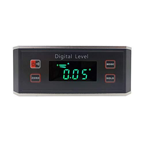 DAIMANPU Mini Display Digitale Livello Multifunzionale in Lega di Alluminio Display Digitale Magnetico ad Alta precisione Mini inclinometro Strumenti di misurazione del goniometro