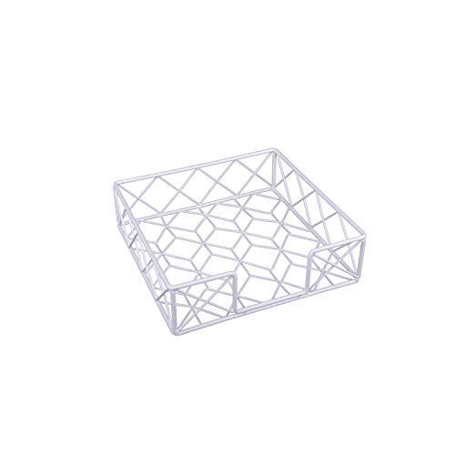 KOOK TIME– Servilletero de Mesa/Porta servilletas Net – Metal – Blanco