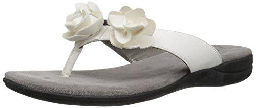 LifeStride Women's Equal Sandal, White, 6 M US