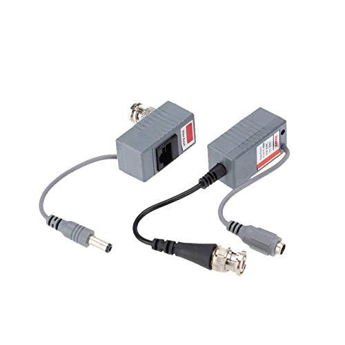Ashley GAO 1 par cctv coaxial BNC video DC Power RCA balun transceptor a CAT5e 6 electrónica de consumo productos y piezas de repuesto