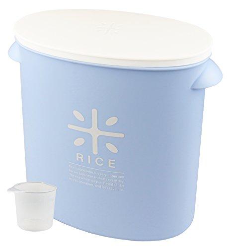 PEARLMETAL Pearl Metal Papelera de arroz 5kg con Taza de medir, Color Azul Stock como una Bolsa de arroz (importación de Japón)