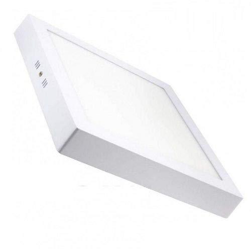 Plafón LED cuadrado, iluminación 18W (1600 lm), 3200K (luz cálida)