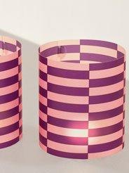 CEDON Photophore Motif chardons facettes Couleur Violet