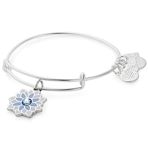 Alex and Ani Charity by Design, Water Lily Bangle Shiny Silver One Size