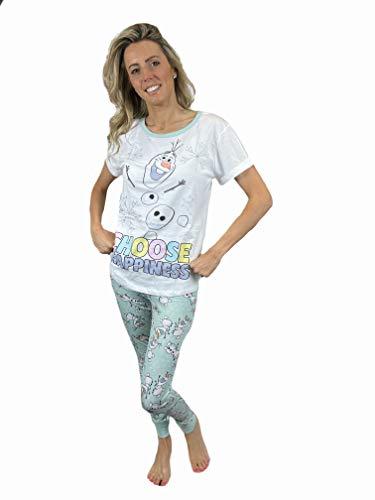 Fashion by Purdashian Disney/Marvel Character Damen Schlafanzug aus Baumwolle, Pyjama-Sets für Frauen Gr. 36, Disney Frozen - Design 2