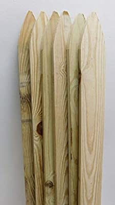 """1""""x4""""x4' Stockade Treated Southern Yellow Pine PICKETS/BALUSTERS for Wood Fence - 6 Pickets"""