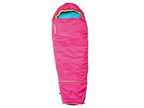 Grüezi-Bag Kids Grow Colorful Rose Rose Mitwachsender Kinder Schlafsack, Körpergröße 100-150 cm, Mumienschlafsack, 1000g, Ø21 x 15 cm, raschelfrei