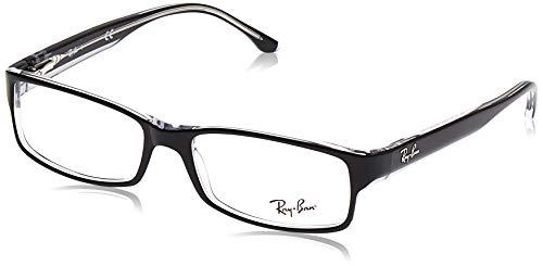 Ray-Ban RX5114 2034 54-16 Rayban RX5114 2034 54-16 Rechteckig Brillengestelle 52, Schwarz