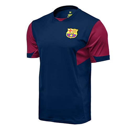 Icon Sports Men FC Barcelona Officially Licensed Soccer Poly Shirt Jersey -07 Medium