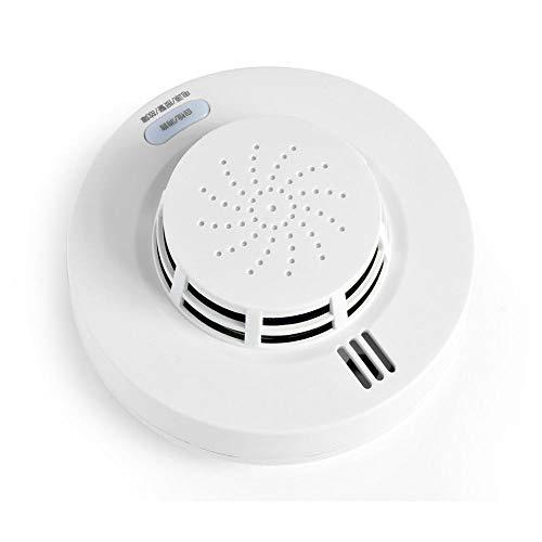 Combinación de monóxido de Carbono y Detector de Humo, Alarma de Incendio inalámbrica con batería y botón de Prueba, Sensor fotoeléctrico de Voz óptico de 88 dB Mejorado térmicamente para Dormitorio