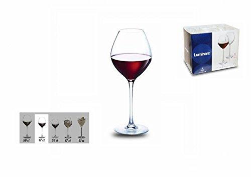 Luminarc L6090 6 Verres A Pied 47 CL Grand CHAIS Wine, Transparent, 24