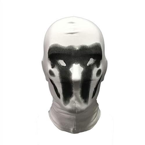 Hpparty Watchmen Rorschach Maske, Digitaldruck Kopfbedeckung Vollkopfmaske, Cosplay Halloween Kostüm Requisiten