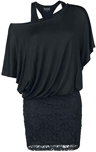 Black Premium by EMP Hold On Loosely Frauen Kurzes Kleid schwarz 5XL