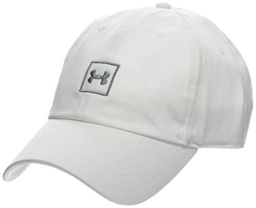 Under Armour Men's Washed Cotton Cap - Gorra, Hombre, Blanco (White/Steel 100) Talla única
