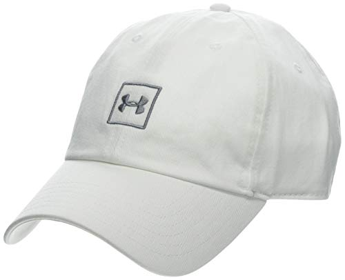 Under Armour Men's Washed Cotton Cap - Gorra, Hombre, Blanco (White/Steel 100)...