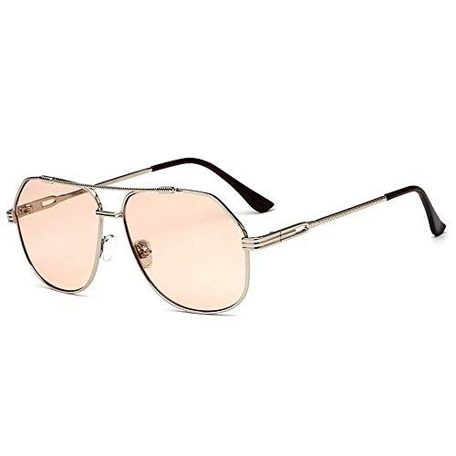 YDS SHOP Flat Top Style Aviator zonnebril full formaat kleuren-lens UV400-bescherming rijden bruin