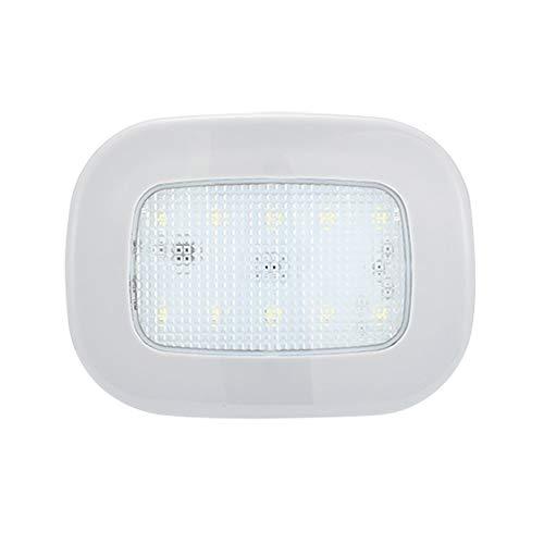 KKmoon Universal Car Interieurleeslamp, USB-oplaadkabel, plafondlamp, magneet, nachtlampje, 12 cm x 9 cm, 5 V/2 W, lange levensduur van de batterij Beige & Blanc