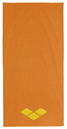 ARENA Beach Towel Toalla de Playa 2-Way, Adultos Unisex, Lily Yellow-Tangerine, TU