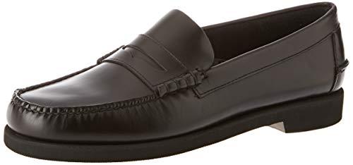 Sebago Dan Waxy Polaris, Mocasines (Loafer) Hombre, Negro Black 902, 43 EU