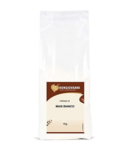 BONGIOVANNI FARINE e BONTA' NATURALI Farina di Mais Bianco, Macinazione da Mais Bianco Ibrido - Formato da 1 kg, 1030G